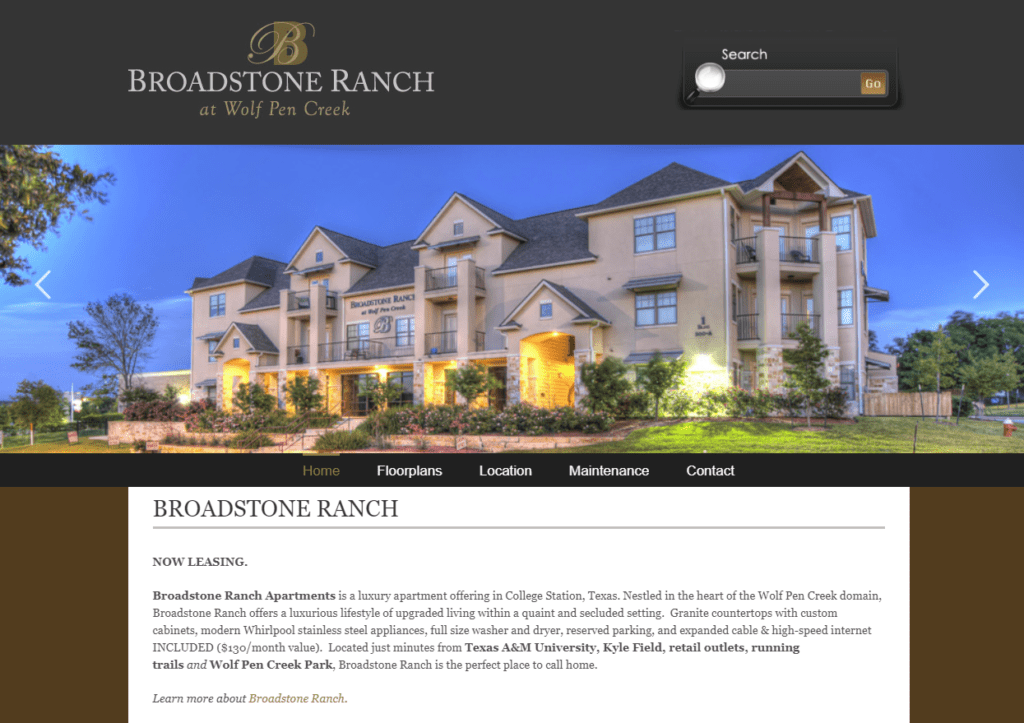 . Broadstone Ranch   Web Unlimited   Web Design in College Station
